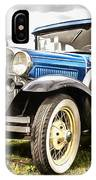 Blue Ford Model A Car IPhone Case
