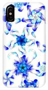Blue Fractal Flowers IPhone Case