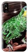 Blue-fronted Amazon Parrot IPhone Case