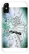 Blue Funky Flower Doodles IPhone X Case