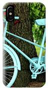 Blue Garden Bicycle IPhone Case