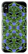 Blue Gentian Lattice IPhone Case