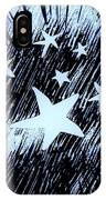 Blue Glow Starry Abstract IPhone Case