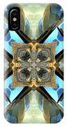 Blue, Green And Gold Abstract IPhone Case