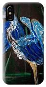 Blue Heron At Night IPhone Case