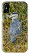 Blue Heron In The Autumn Colours IPhone Case