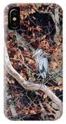 Blue Heron In Tree IPhone Case