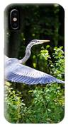 Blue Heron On The Move IPhone Case
