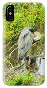 Blue Heron Series Little One IPhone Case