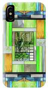 Blue Heron Stained Glass IPhone Case