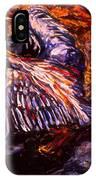 Blue Heron Swirl IPhone Case