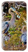 Blue Herons IPhone Case