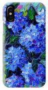 Blue Hydrangeas - Abstract Floral Composition IPhone Case