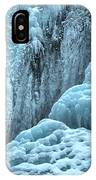 Blue Ice Flows At Tangle Falls IPhone Case