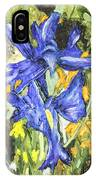 Blue Iris Painting IPhone Case