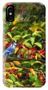 Blue Jay And Berries IPhone Case