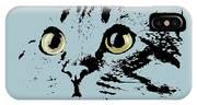 Blue Kitten Portrait IPhone X Case