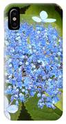 Blue Lacecap Hydrangeas IPhone Case