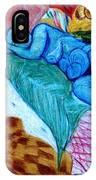 Blue Lady IPhone Case