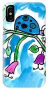 Blue Ladybug IPhone Case