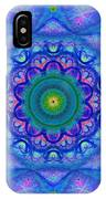 Blue Mandala For Heart Chakra IPhone Case