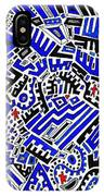 Blue Maze IPhone Case