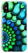 Blue Meets Green IPhone Case