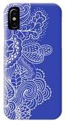 Blue Mehndi IPhone Case