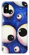 Blue Monster Eyes IPhone Case