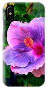 Blue Moon Hibiscus IPhone Case