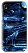 Blue Moon Wolf Pack IPhone Case