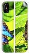 Blue Morpho Butterfly Diptych IPhone Case