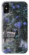 Blue Muted Garden Respite IPhone X Case