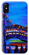 Blue Night Of St. Johns Bridge 37 IPhone Case