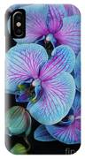 Blue Orchid On Black IPhone Case