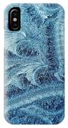Extraordinary Hoarfrost Scallop Patterns In Blue IPhone Case