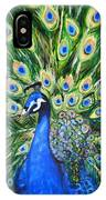 Blue Peacock IPhone Case