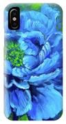 Blue Peony Jenny Lee Discount IPhone Case