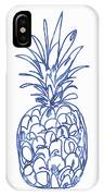 Blue Pineapple- Art By Linda Woods IPhone Case by Linda Woods