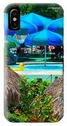 Blue Pool Umbrellas IPhone Case