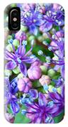 Blue Purple Hydrangea Flower Macro Art IPhone Case