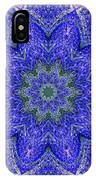 Blue Purple Lavender Floral Kaleidoscope Wall Art Print IPhone Case