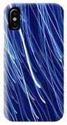 Blue Rain Abstract IPhone Case