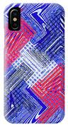 Blue Red And White Janca Abstract Panel IPhone Case