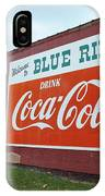 Blue Ridge Coke IPhone Case