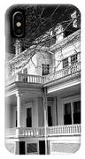 Blue Ridge Parkway Flat Top Manor Bw IPhone Case