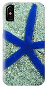 Blue Sea Star Or Starfish On Sand IPhone Case