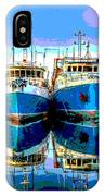Blue Shrimp Boats IPhone Case