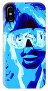 Blue Skier Bob IPhone Case