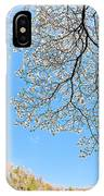 Blue Skies And Dogwood IPhone Case